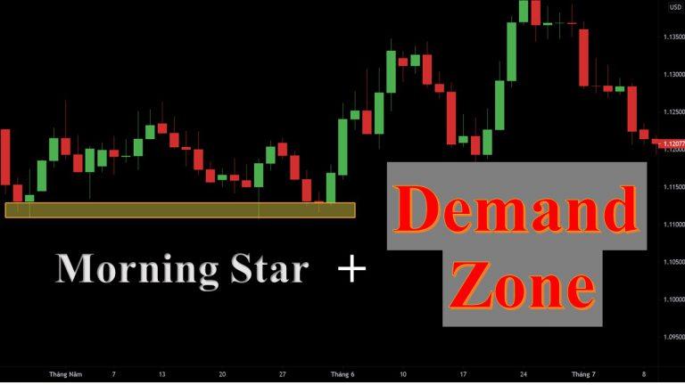 Trade Forex Hiệu Quả Với Mô Hình Nến Morning Star Kết Hợp Vùng Demand